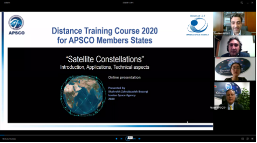 "APSCO Distance Training on ""Satellite Constellations"""